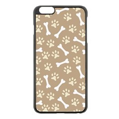 Background Bones Small Footprints Brown Apple iPhone 6 Plus/6S Plus Black Enamel Case