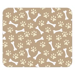 Background Bones Small Footprints Brown Double Sided Flano Blanket (Small)