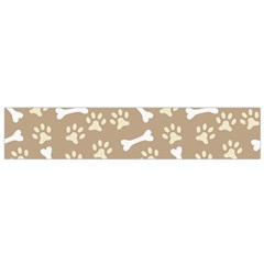 Background Bones Small Footprints Brown Flano Scarf (Small)