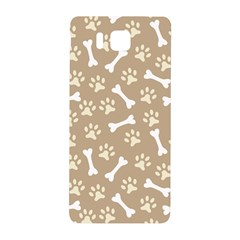 Background Bones Small Footprints Brown Samsung Galaxy Alpha Hardshell Back Case