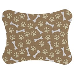 Background Bones Small Footprints Brown Jigsaw Puzzle Photo Stand (Bow)