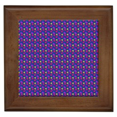 Beach Blue High Quality Seamless Pattern Purple Red Yrllow Flower Floral Framed Tiles