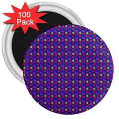 Beach Blue High Quality Seamless Pattern Purple Red Yrllow Flower Floral 3  Magnets (100 pack)