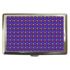 Beach Blue High Quality Seamless Pattern Purple Red Yrllow Flower Floral Cigarette Money Cases