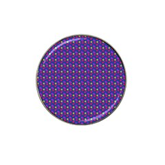 Beach Blue High Quality Seamless Pattern Purple Red Yrllow Flower Floral Hat Clip Ball Marker (4 pack)