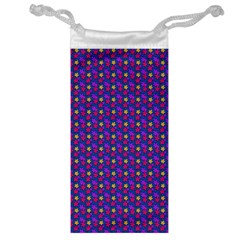 Beach Blue High Quality Seamless Pattern Purple Red Yrllow Flower Floral Jewelry Bag