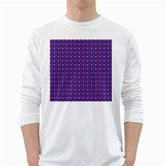 Beach Blue High Quality Seamless Pattern Purple Red Yrllow Flower Floral White Long Sleeve T-Shirts