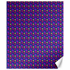 Beach Blue High Quality Seamless Pattern Purple Red Yrllow Flower Floral Canvas 8  x 10