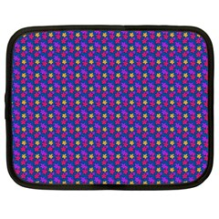 Beach Blue High Quality Seamless Pattern Purple Red Yrllow Flower Floral Netbook Case (Large)