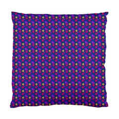 Beach Blue High Quality Seamless Pattern Purple Red Yrllow Flower Floral Standard Cushion Case (One Side)