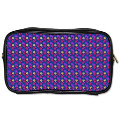 Beach Blue High Quality Seamless Pattern Purple Red Yrllow Flower Floral Toiletries Bags