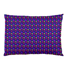 Beach Blue High Quality Seamless Pattern Purple Red Yrllow Flower Floral Pillow Case (Two Sides)