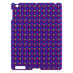 Beach Blue High Quality Seamless Pattern Purple Red Yrllow Flower Floral Apple iPad 3/4 Hardshell Case