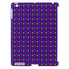 Beach Blue High Quality Seamless Pattern Purple Red Yrllow Flower Floral Apple iPad 3/4 Hardshell Case (Compatible with Smart Cover)