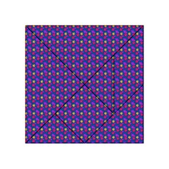 Beach Blue High Quality Seamless Pattern Purple Red Yrllow Flower Floral Acrylic Tangram Puzzle (4  X 4 )