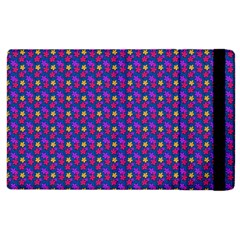 Beach Blue High Quality Seamless Pattern Purple Red Yrllow Flower Floral Apple iPad 3/4 Flip Case