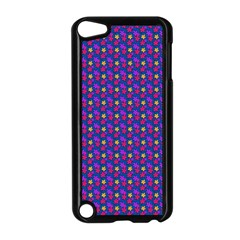 Beach Blue High Quality Seamless Pattern Purple Red Yrllow Flower Floral Apple iPod Touch 5 Case (Black)