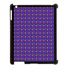 Beach Blue High Quality Seamless Pattern Purple Red Yrllow Flower Floral Apple iPad 3/4 Case (Black)