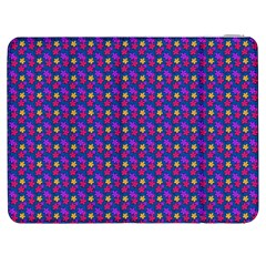 Beach Blue High Quality Seamless Pattern Purple Red Yrllow Flower Floral Samsung Galaxy Tab 7  P1000 Flip Case