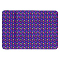 Beach Blue High Quality Seamless Pattern Purple Red Yrllow Flower Floral Samsung Galaxy Tab 8.9  P7300 Flip Case