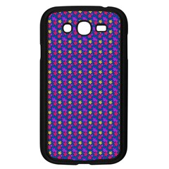 Beach Blue High Quality Seamless Pattern Purple Red Yrllow Flower Floral Samsung Galaxy Grand DUOS I9082 Case (Black)