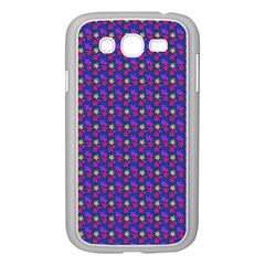 Beach Blue High Quality Seamless Pattern Purple Red Yrllow Flower Floral Samsung Galaxy Grand DUOS I9082 Case (White)