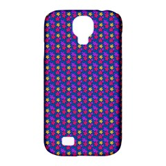 Beach Blue High Quality Seamless Pattern Purple Red Yrllow Flower Floral Samsung Galaxy S4 Classic Hardshell Case (PC+Silicone)