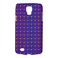 Beach Blue High Quality Seamless Pattern Purple Red Yrllow Flower Floral Galaxy S4 Active