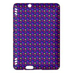 Beach Blue High Quality Seamless Pattern Purple Red Yrllow Flower Floral Kindle Fire HDX Hardshell Case