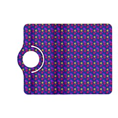 Beach Blue High Quality Seamless Pattern Purple Red Yrllow Flower Floral Kindle Fire HD (2013) Flip 360 Case