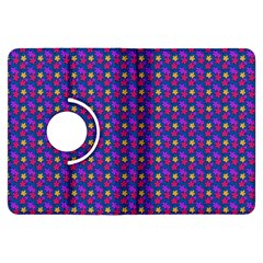 Beach Blue High Quality Seamless Pattern Purple Red Yrllow Flower Floral Kindle Fire HDX Flip 360 Case