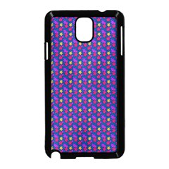 Beach Blue High Quality Seamless Pattern Purple Red Yrllow Flower Floral Samsung Galaxy Note 3 Neo Hardshell Case (Black)