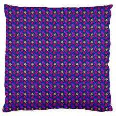 Beach Blue High Quality Seamless Pattern Purple Red Yrllow Flower Floral Large Flano Cushion Case (Two Sides)