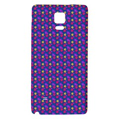 Beach Blue High Quality Seamless Pattern Purple Red Yrllow Flower Floral Galaxy Note 4 Back Case