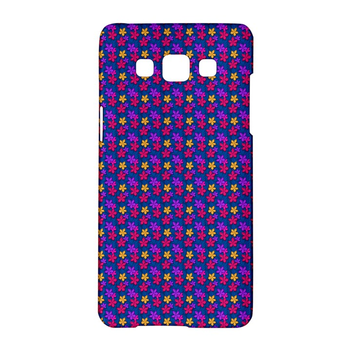 Beach Blue High Quality Seamless Pattern Purple Red Yrllow Flower Floral Samsung Galaxy A5 Hardshell Case