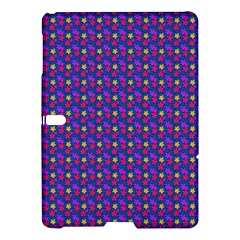 Beach Blue High Quality Seamless Pattern Purple Red Yrllow Flower Floral Samsung Galaxy Tab S (10.5 ) Hardshell Case