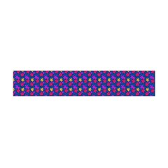 Beach Blue High Quality Seamless Pattern Purple Red Yrllow Flower Floral Flano Scarf (Mini)