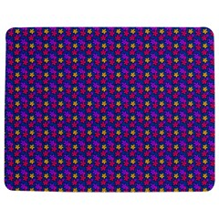 Beach Blue High Quality Seamless Pattern Purple Red Yrllow Flower Floral Jigsaw Puzzle Photo Stand (Rectangular)