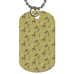 Animals Deer Owl Bird Grey Dog Tag (One Side)