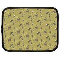 Animals Deer Owl Bird Grey Netbook Case (XL)