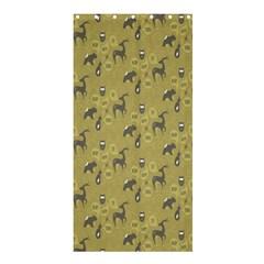 Animals Deer Owl Bird Grey Shower Curtain 36  x 72  (Stall)