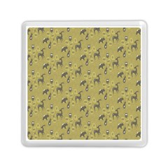 Animals Deer Owl Bird Grey Memory Card Reader (Square)
