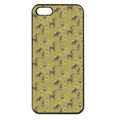 Animals Deer Owl Bird Grey Apple iPhone 5 Seamless Case (Black)