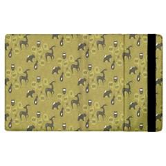 Animals Deer Owl Bird Grey Apple iPad 3/4 Flip Case