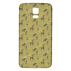 Animals Deer Owl Bird Grey Samsung Galaxy S5 Back Case (White)