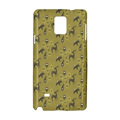 Animals Deer Owl Bird Grey Samsung Galaxy Note 4 Hardshell Case