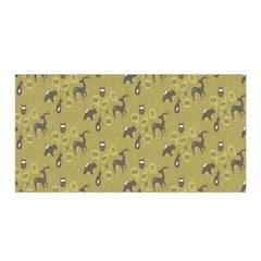 Animals Deer Owl Bird Grey Satin Wrap