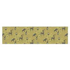 Animals Deer Owl Bird Grey Satin Scarf (Oblong)