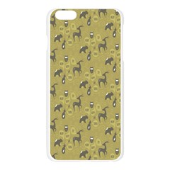 Animals Deer Owl Bird Grey Apple Seamless iPhone 6 Plus/6S Plus Case (Transparent)