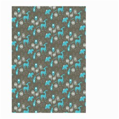 Animals Deer Owl Bird Bear Bird Blue Grey Small Garden Flag (Two Sides)